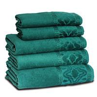 Махровое полотенце МЕЛ ТЕМ, 70х140см, 360г/м2 (тёмно-зелёное)