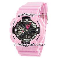 Неубиваемые спортивные наручные часы Casio G-Shock AAA GA-110 Pink