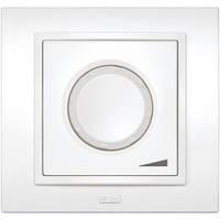Диммер, светорегулятор с подсветкой 800W поворотный EL-Bi Zena белый (механизм)