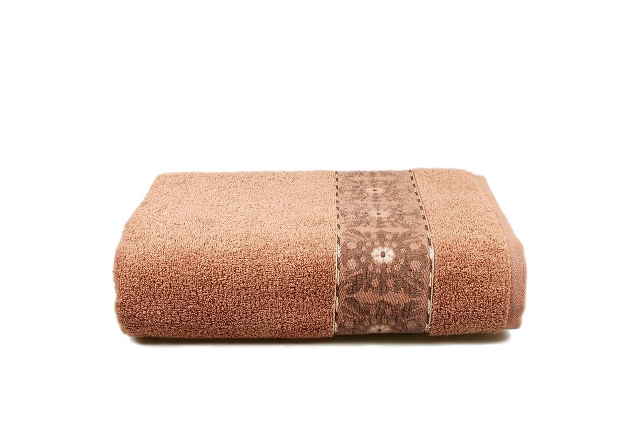 Махровое полотенце ORIENTAL (коричневое) 70х130см