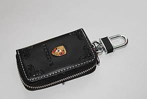 Ключниця для авто Шкіра KeyHolder PORSCHE