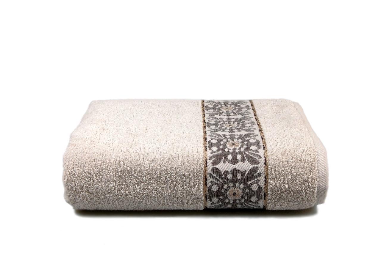 Махровое полотенце ORIENTAL (с.серое) 70х130см