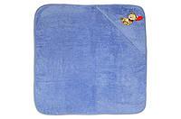 Полотенце (уголок) махровое Медвежонок с шариком, 75х75, 450г/м2, (голубое)