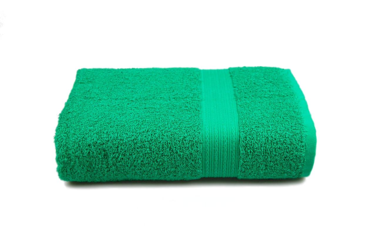 Полотенце гладкокрашеное с бордюром (зеленое) 70х140 см