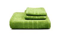 Полотенце гладкокрашеное махровое  (оливковое), 40х70см