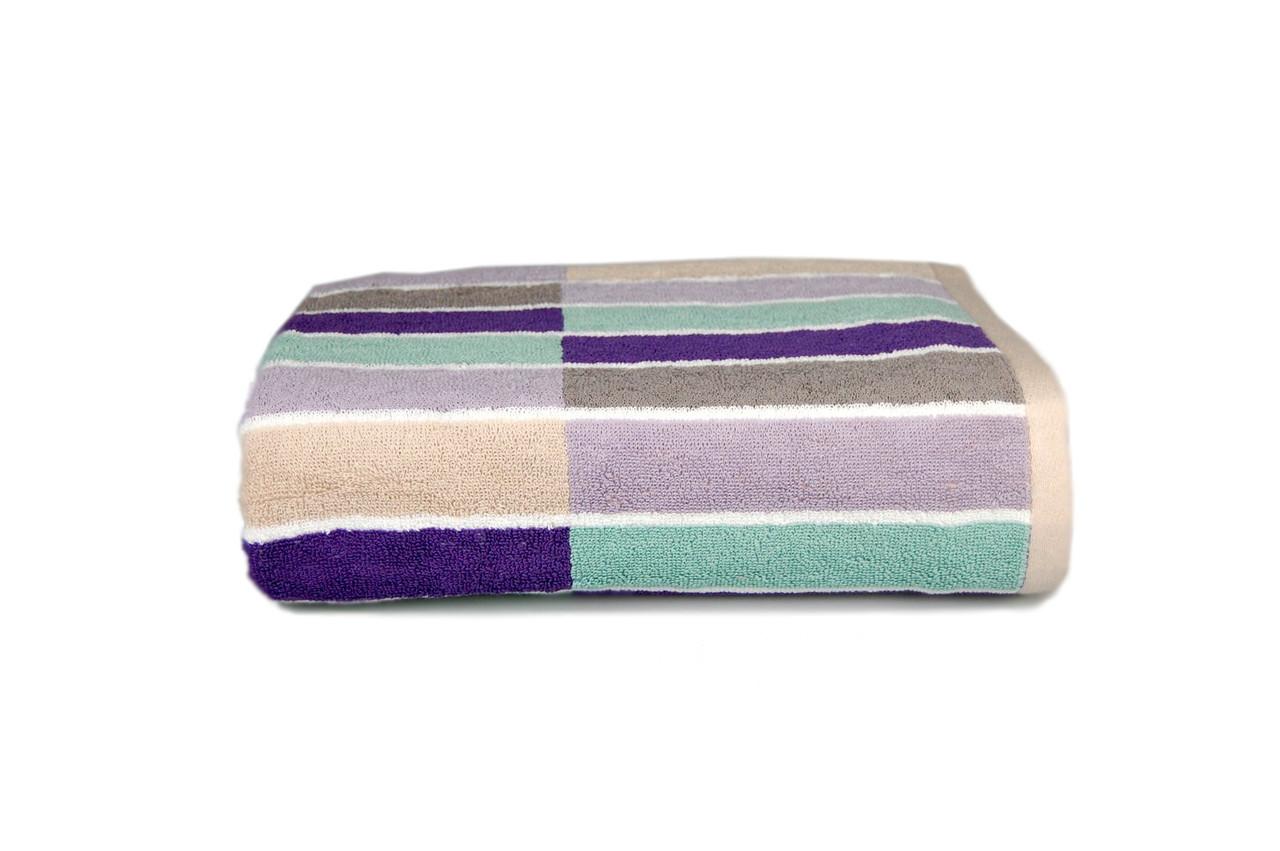 Полотенце махровое  MADISON (фиолетовое), 88×140 см