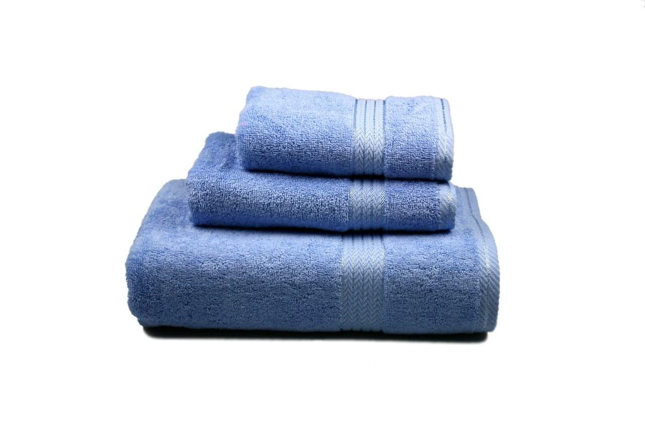 Полотенце махровое(голубое), 40х80см