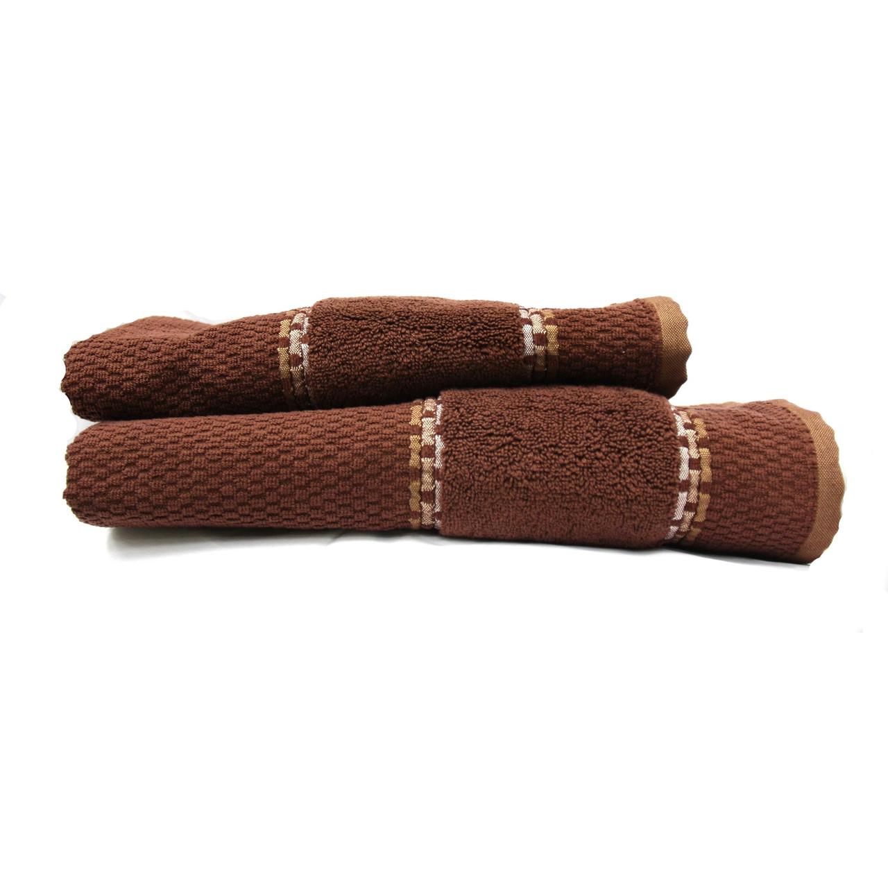 Полотенце махровое Karya, 70х140см, 500г/м2 (тёмно-коричневое)