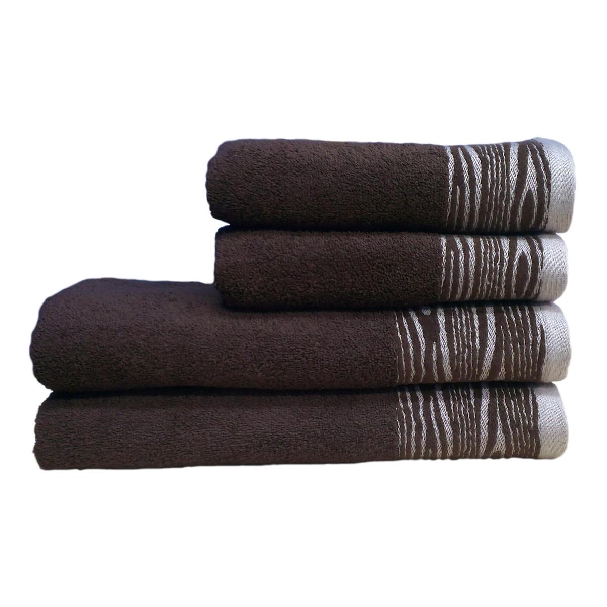 Полотенце махровое Tree, 70Х140см, 430г/м2 (тёмно-коричневое)