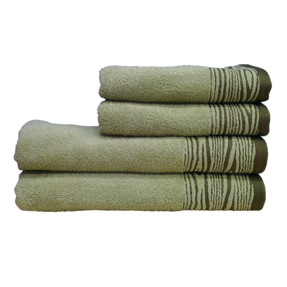 Рушник махровий Tree, 70Х140см, 430г/м2 (зелене)