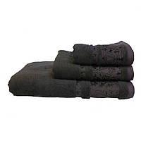 Полотенце махровое Бамбук, 50Х90см, 500г/м2 (коричневое)