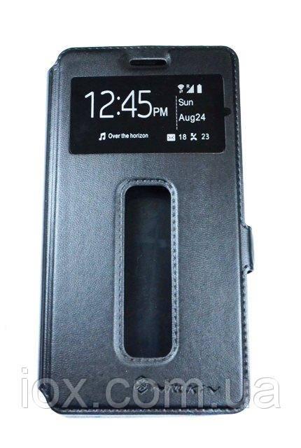 Шкіряна чорна книжка-підставка Nillkin на магнітній застібці для Lenovo Vibe C A2020