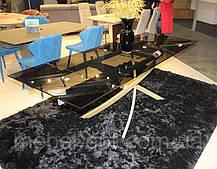 Современный обеденный раскладной стол Lincoln (Линкольн), цвет дымчатый, стеклянная столешница 10 мм, фото 2