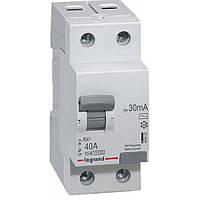 Дифференциальное реле LEGRAND RX3 30mA 40А 2п AC, 402025