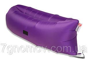 Ламзак, надувной шезлонг-лежак Premium фиолетовый, фото 2