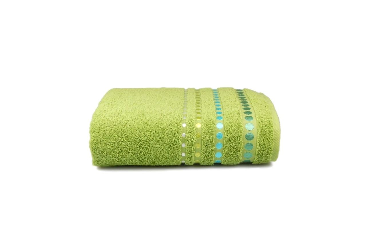 Полотенце махровое Pretty dots (зелёное), 70х140см
