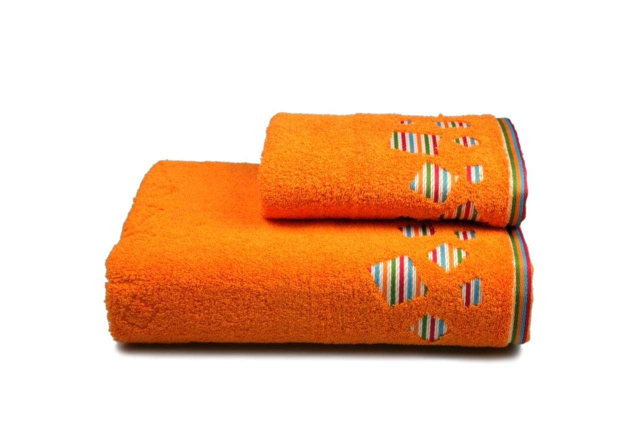 Полотенце махровое Rainbow (оранжевое), 50х90см
