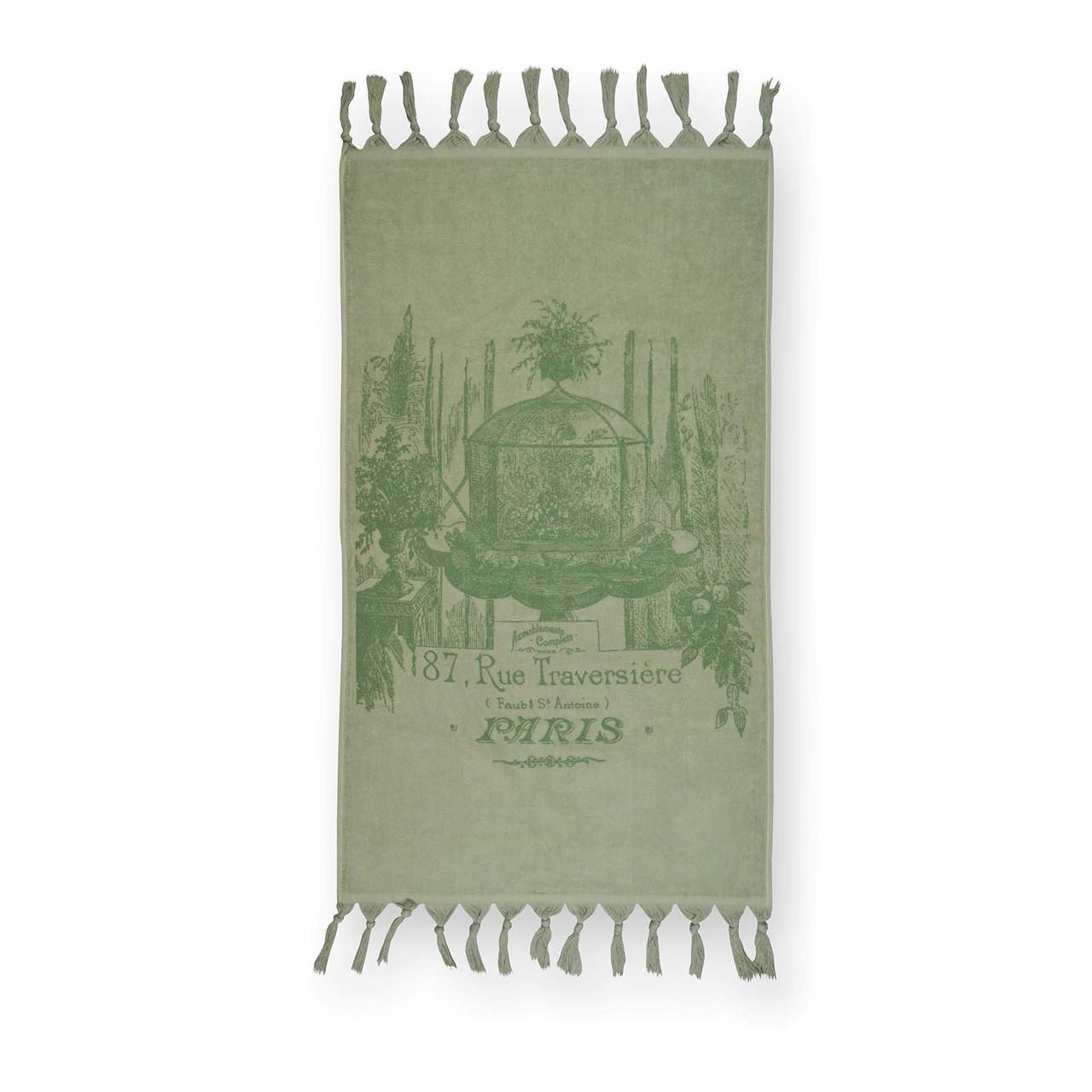 Полотенце махровое велюровое Paris (мятное), 50х85 см
