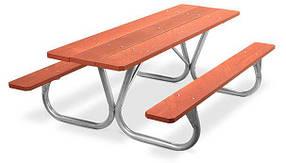 Комплект стол с лавками для пикника антивандальный (Rud TM)