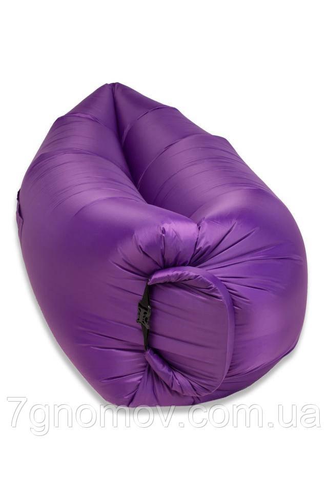 Ламзак, надувной шезлонг-лежак Premium фиолетовый