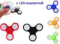 Спиннер (Spinner) с LED-подсветкой, разные цвета