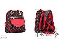 Стильная красная сумка-рюкзак LOUIS VUITTON