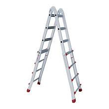 Лестница алюминиевая универсальная раскладная телескопическая INTERTOOL LT-2044