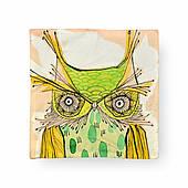 Наволочка декоративная Зеленая сова, 42х42 см