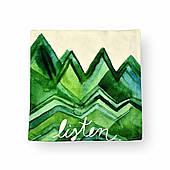 Наволочка декоративная Зеленые горы, 42х42 см