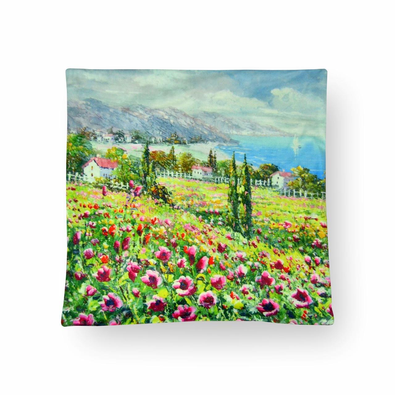 Наволочка декоративная Море цветов, 42х42 см