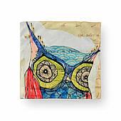 Наволочка декоративная Синяя сова, 42х42 см