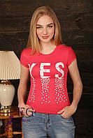"""Женская футболка """"Yes"""", фото 1"""