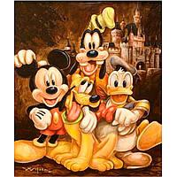 """Картина для рисования камнями Алмазная вышивка """"Микки Маус, Дональд дак, Гуфи"""""""