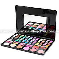 Тени для макияжа  Палитра теней 78 оттенков mac + 12 цветов помады + 6 румян набор теней
