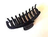 Краб пластик украшен черными кристаликами, фото 2
