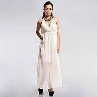 Шифоновое длинное платье на завязках сзади 38,40,42,44,46,48 р