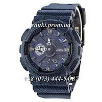 Неубиваемые спортивные наручные часы Casio G-Shock AAA GA-110 Dark-Jeans