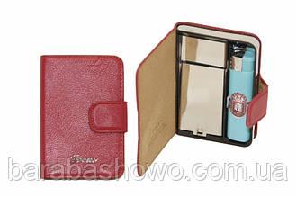 Кожаный портсигар разных цветов: красный, коричневый, черный