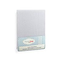 Простынь махровая на резинке (светло-серая, 150г/м2) 90х200
