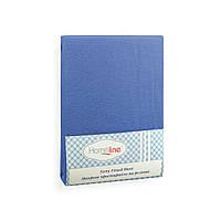 Простынь махровая на резинке (синяя, 150г/м2) 140х200