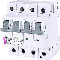 Авт. выключатель ETI ETIMAT 6  3p+N C 25А (6 kA), 2146518