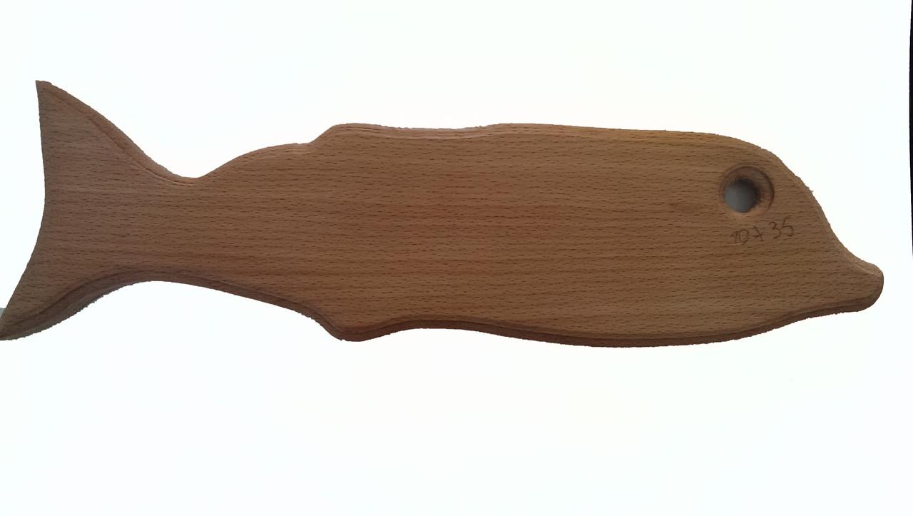 Доска разделочная деревянная  10*35 в виде дельфина буковая  оптом и в розницу