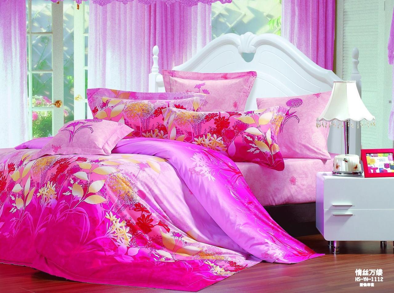 Семейный комплект постельного белья Сатин Закат