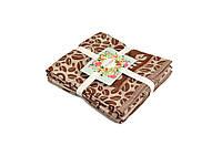 Набор полотенец из трёх штук бамбук Жаккард/Кофе, 40х60см