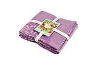 Набор полотенец из трёх штук бамбук Жаккард/Лаванда, 40х60см