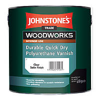 Лак полиуретановый Quick Dry Polyurethane Varnish  Clear Gloss JOHNSTONE`S (Джонстоун)