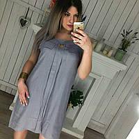 Льняное платье Большого размера Цвета 038 CY, фото 1