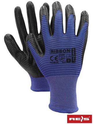 Защитные перчатки из полиэстера, с покрытием из нитрила RIBBON NB, фото 2