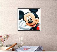 "Картина для рисования камнями Алмазная вышивка ""Микки Маус портрет "" 35 на 35 см"