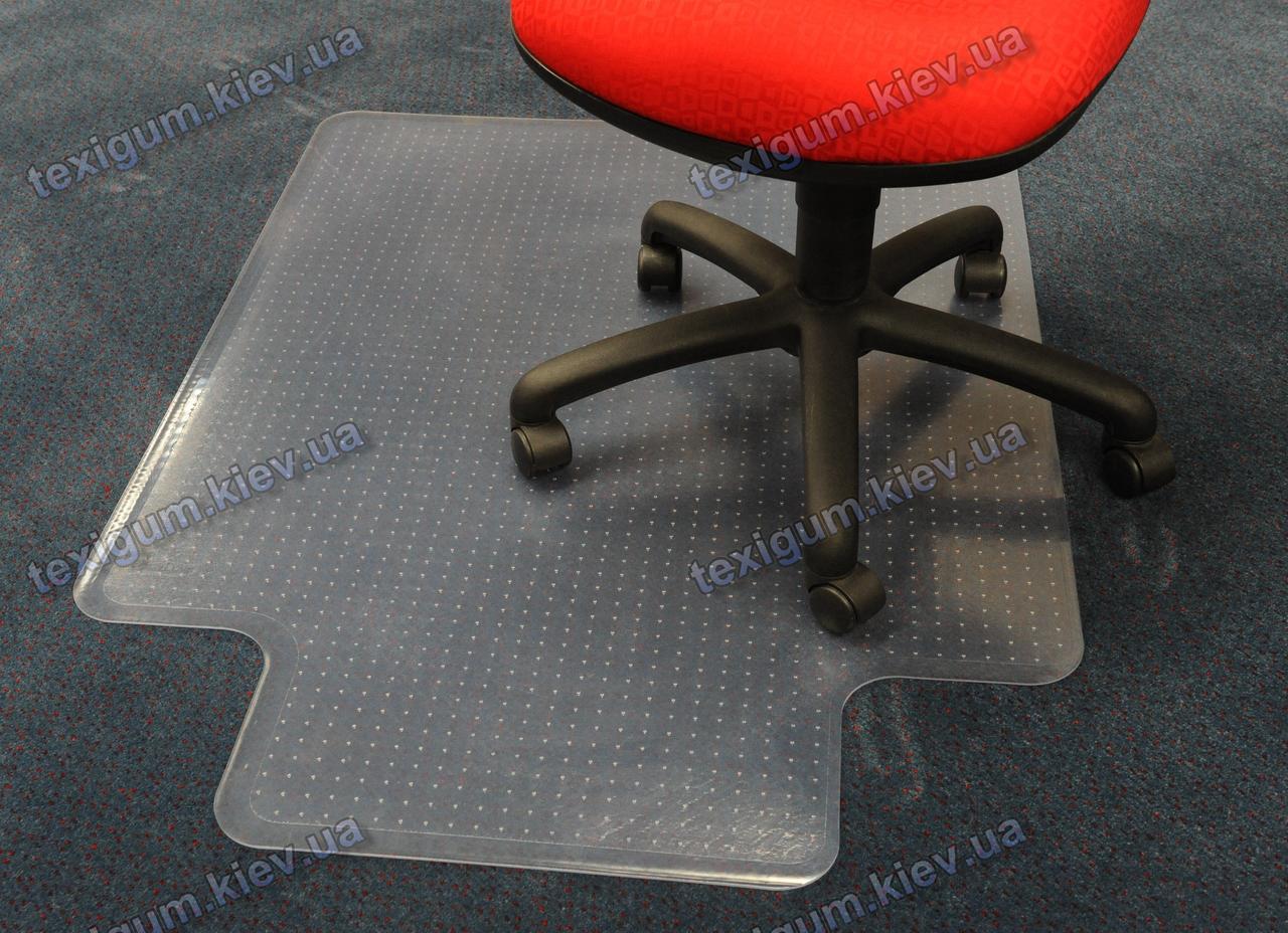 Защитный ковер под кресло прозрачный 92х122см. для ковролина Германия. Толщина 5,0мм